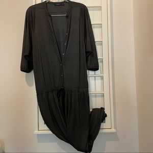 Stretchy and Comfortable Charcoal Jumpsuit